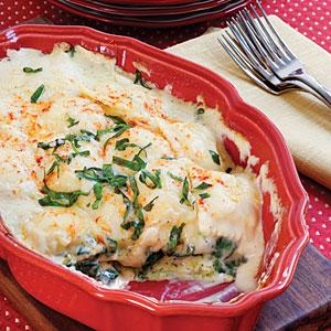 Spinach-Ravioli Lasagna