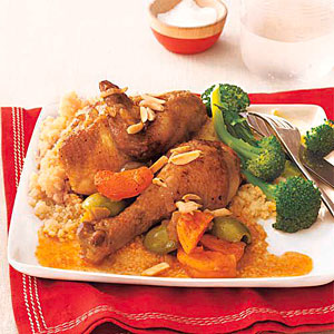Moroccan Chicken Tagine with Apricots