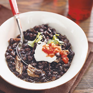 Slow-Cooker Beer-Braised Pork and Black Bean Soup
