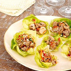 Pork and Mushroom Lettuce Wraps