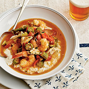 Shrimp-and-Crab Gumbo Over Grits