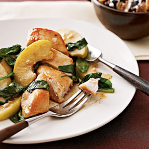 Apple-Spinach Chicken