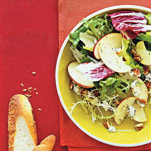 Apple-and-Gorgonzola Salad With Maple Dressing