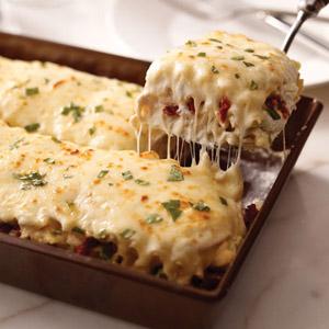 Creamy White Chicken & Artichoke Lasagna