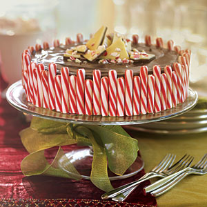 Chocolate Chunk Candy Cane Cheesecake