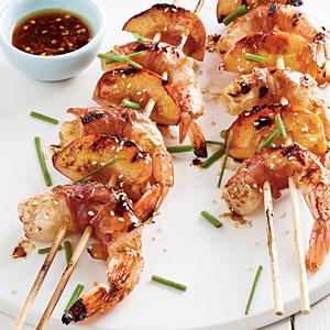 Honey Shrimp Skewers