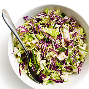 Spicy-Sweet Asian Slaw with Pickled Daikon