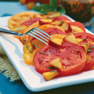 Fresh Peach-Basil Vinaigrette