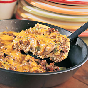 Veggie Sausage-Cheddar Frittata