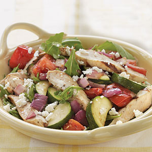 Grilled Chicken and Vegetable Arugula Salad