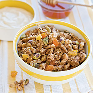 Nutty Peach Granola