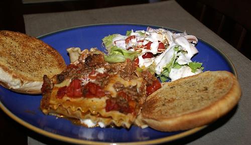salad and italian dressing