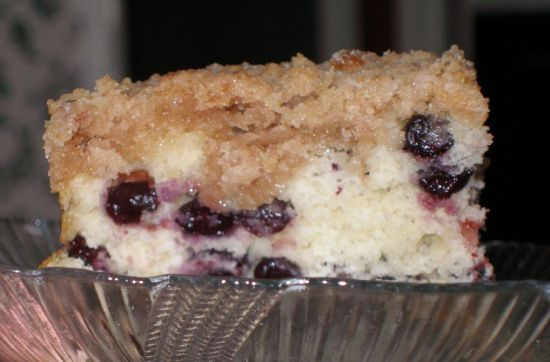 Mom's blueberry buckle cake