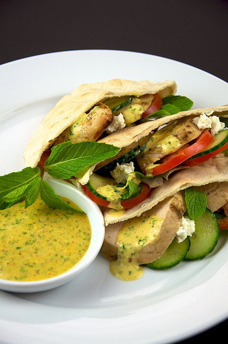 Chicken Pitas