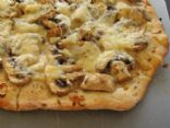 Gruyere and Mushroom Pizza