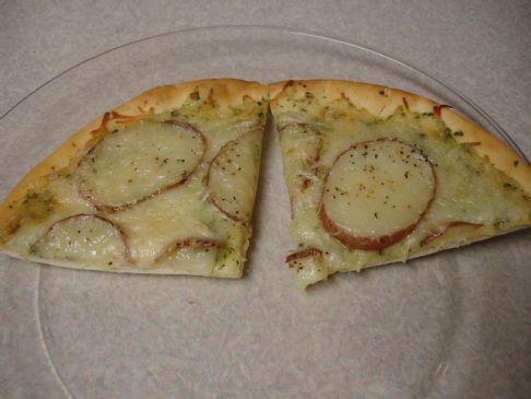 Potato Pesto Flatbread Pizza