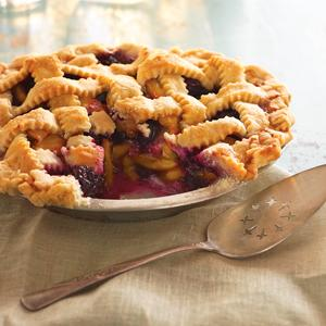 Fresh Two Berry Peach Pie