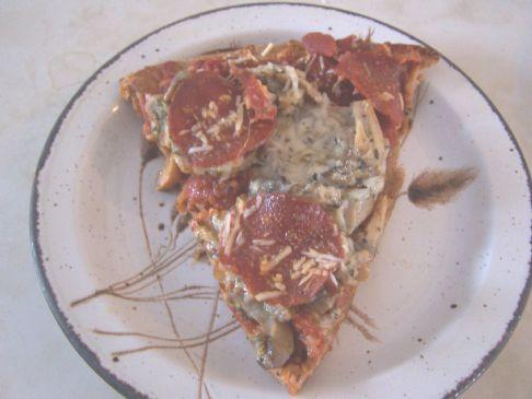WW Turkey pepperoni pizza