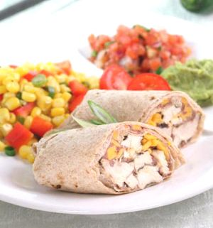 Chicken & Bean Burritos