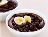 Chocolate Pudding with Bananas and Graham Crackers