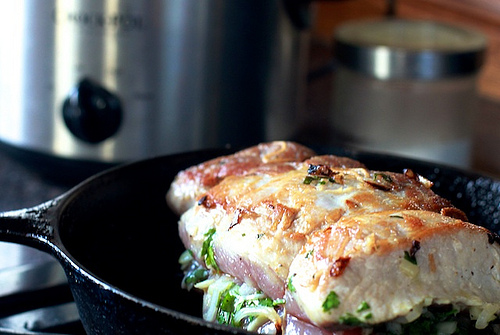 pork roast in the crock-pot