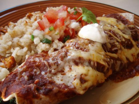 Chicken & Spinach Enchiladas with Traditional Enchilada Sauce