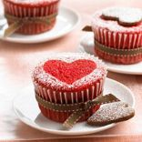 red velvet sweetheart cupcakes