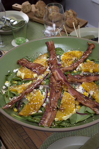 Bacon Goat Cheese Salad