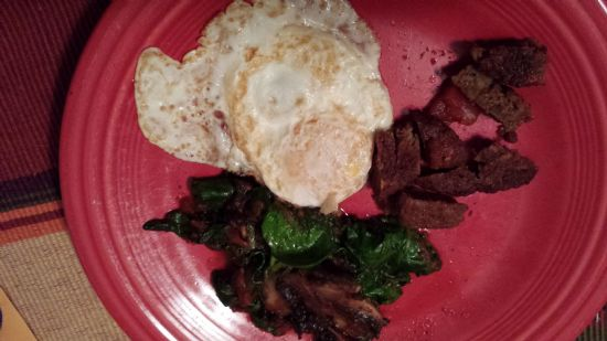 Spinach and Egg Breakfast Saute