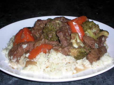 Maple Syrup Beef & Vegetable Casserole with Cauliflower Mash