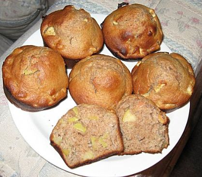 Whole wheat apple honey muffins