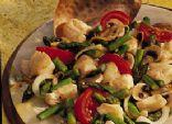 Halibut-Asparagus Stir-Fry