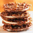 Pecan Lace Sandwich Cookies w/ Orange Buttercream