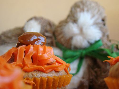 Almond Carrot Cupcakes