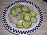 Cucumber and Shallot Salad