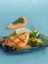 Roasted Salmon W/ Shallot and Citrus Sauce