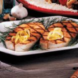 Super Simple Lemon Pepper Salmon Steak