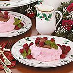 Chocolate-Filled Raspberry Meringues