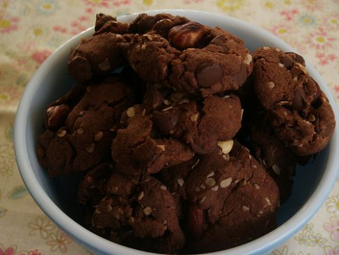 Revamped Double Dark Chocolate Chunk Oat Cookies!
