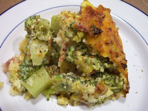 Hearty Ham, Cheese, Rice and Broccoli Casserole