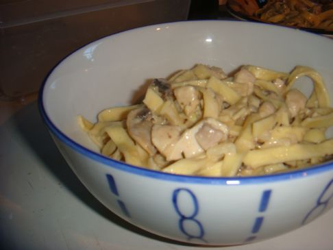 Amazing Chicken and Mushroom Fettucini