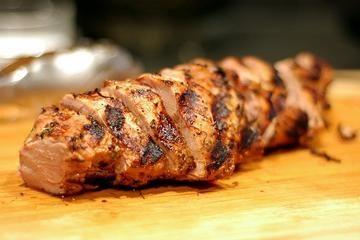 garlic low fat pork loin