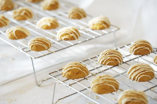 Martha Stewart's Chocolate-Glazed Pumpkin Cookies
