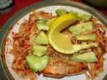 Salmon with Salsa Noodle and Avocado
