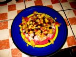 Almond Crusted Marlin with Pineapple, Corn & Black Bean Salsa