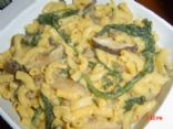 Macaroni N Cheese with TVP, Spinach & Shiitake
