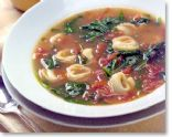 Tortellini, Spinach, and Tomato Soup