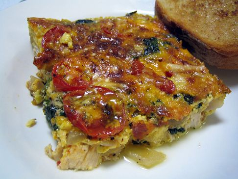 Crustless Chicken & Spinach Quiche