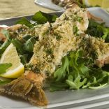 BUTTERFLIED BAKED SHRIMP WITH HERBED BREADCRUMBS