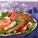 Tomato Basil Burger Caprese Salad